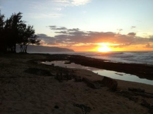 North Shore Oahu Sunsets photo by Hawaii Travel Podcast