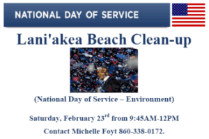 Lani'akea Beach clean-up